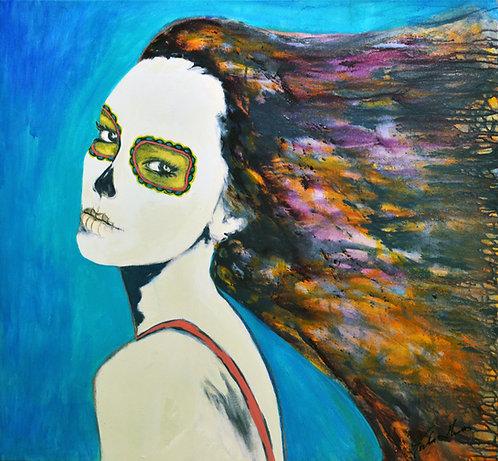 """Mujer Maravilla"" Fine Art Giclée Print on Canvas"