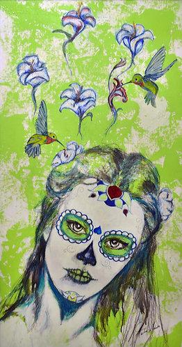 """Hummingbird Princess"" Fine Art Giclée Print on Canvas"