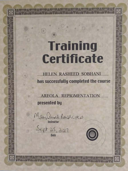 Paramedical Tattooing Certificate