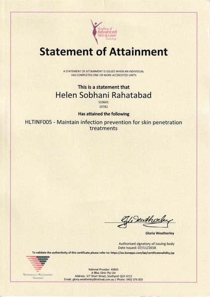 Australian Cosmetic Tattooing Certificate