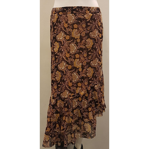 SKI 1746 - Skirt Diagonal Ruches