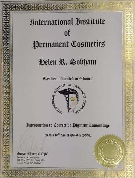 Corrective Pigment Camouflage Certificate