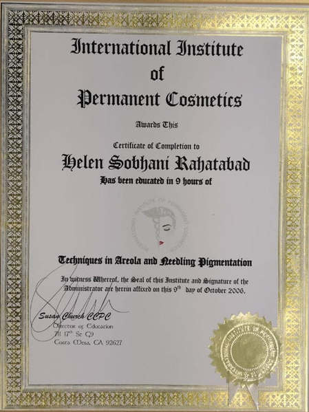 Camouflage Correction Certificate