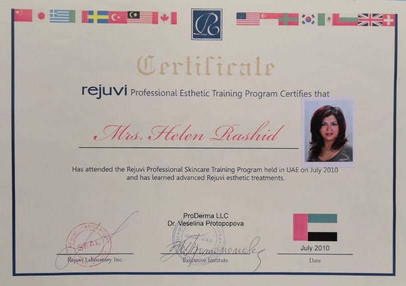 Professional Esthetic Training Certificate