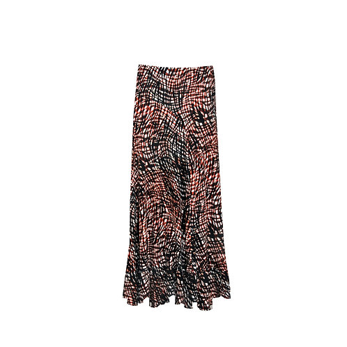SKI 1521 - Long skirt ruches