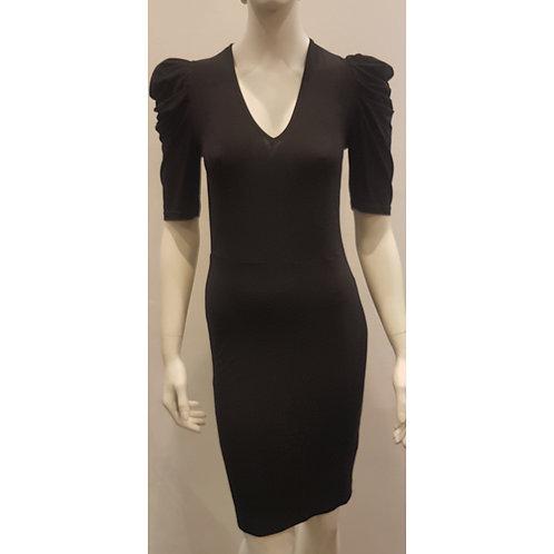 DRE 1731 - V-Dress Puffy Sleeve