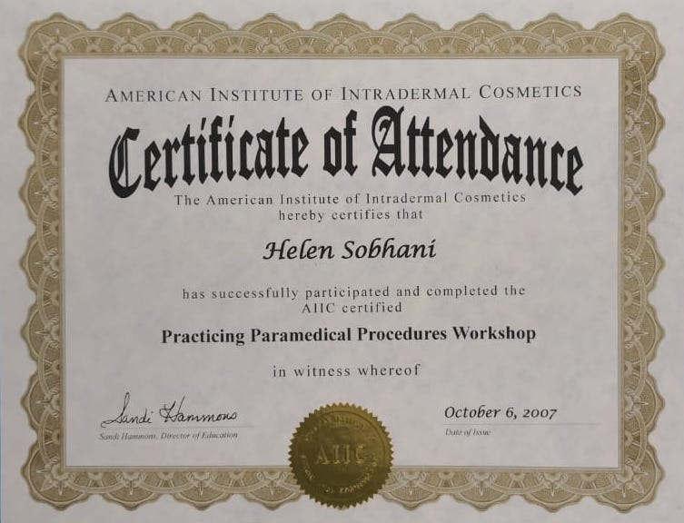 Paramedical Procedure Workshop Certificate