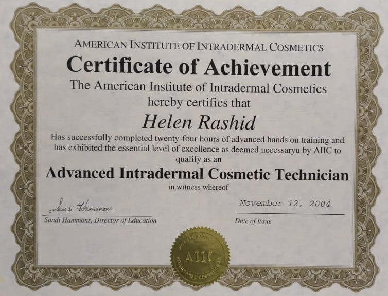 Cosmetic Tattooing Certificate