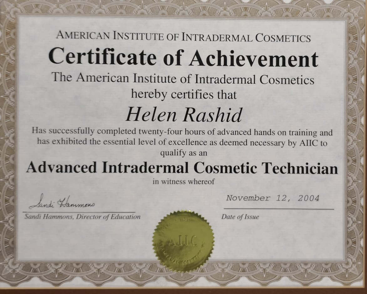 Advance Intradermal Cosmetic Technician Certificate