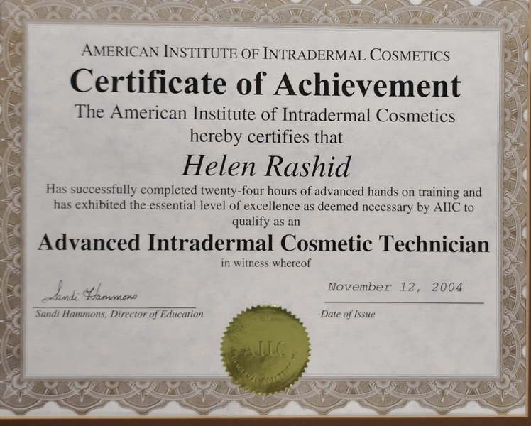 Advance Intradermal Cosmetic Technician Certificate