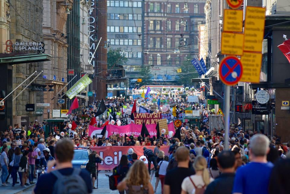 Manifestation in Helsinki / photo by Florencia Quesada