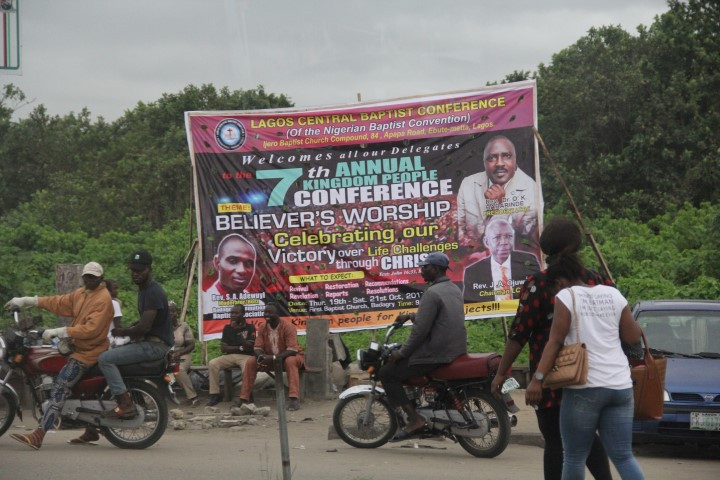 Lagos religious signs, photo by Pedro Aibéo, 2017