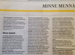 Croquis in Helsingin Sanomat 2016