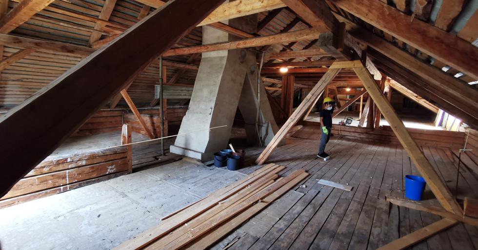Large open attic