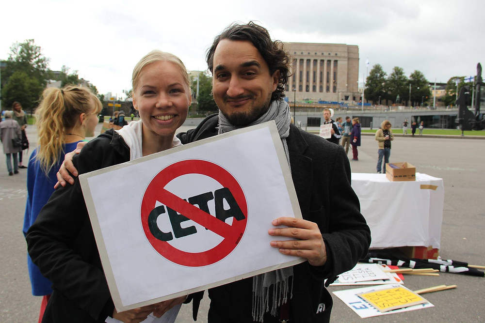 No to CETA manifestation on 26th August 2017 in Helsinki, Finland , photo by TTIP-info