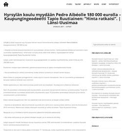 hyrsylan koulu sales to Aibeo 2017