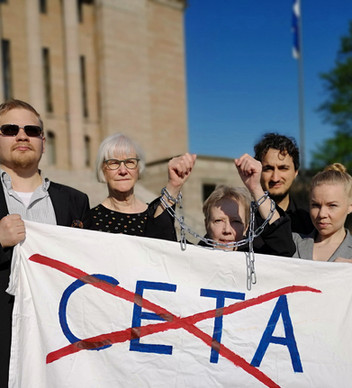 Finnish MPs voting today on CETA without having read it!