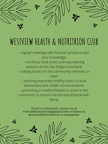Health and Nutrition Club