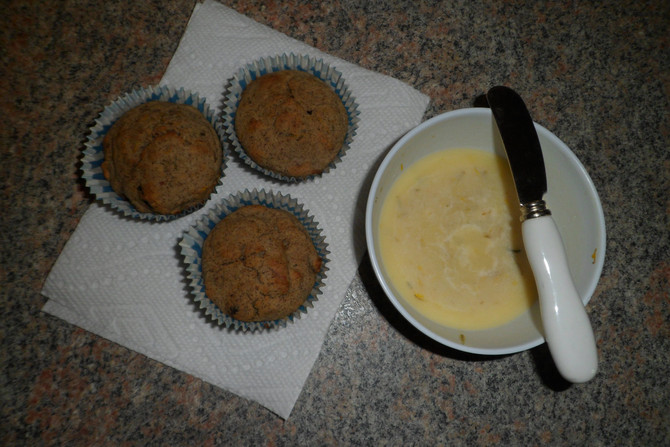Gluten Free Dandelion Lemon Muffins with Dandelion Honey Butter