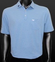 Scotty Dog Cotton Blend Pique Cottage Blue Polo