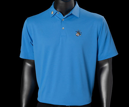 Scotty Cameron Jackpot Johnny Tour Tech Fabric Liberty Blue Polo