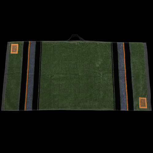 Leather Patch Caddy Towel (Green)