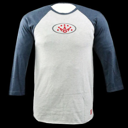 Scotty Cameron Oval Crown Raglan 3/4 Sleeve T-Shirt (Indigo)