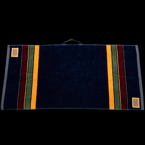 Leather Patch Caddy Towel (Navy)