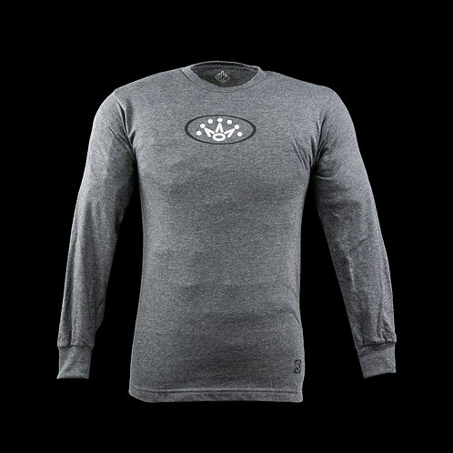 Oval Crown Charcoal Heather Long Sleeve T-Shirt