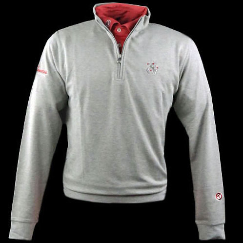 Scotty Cameron Jackpot Johnny  Sweater Qtr Zip  (LT Gray)