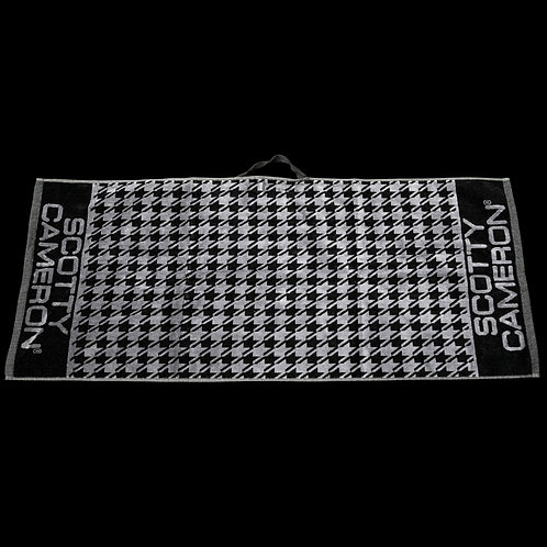 Houndstooth Black Towel