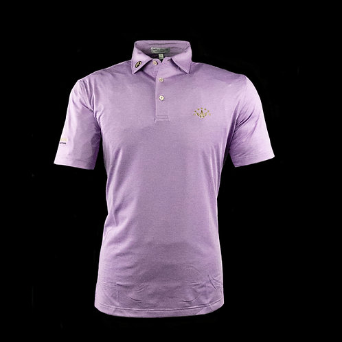7 Point Crown Tour Tech Stretch Fabric Polo (Bellflower)