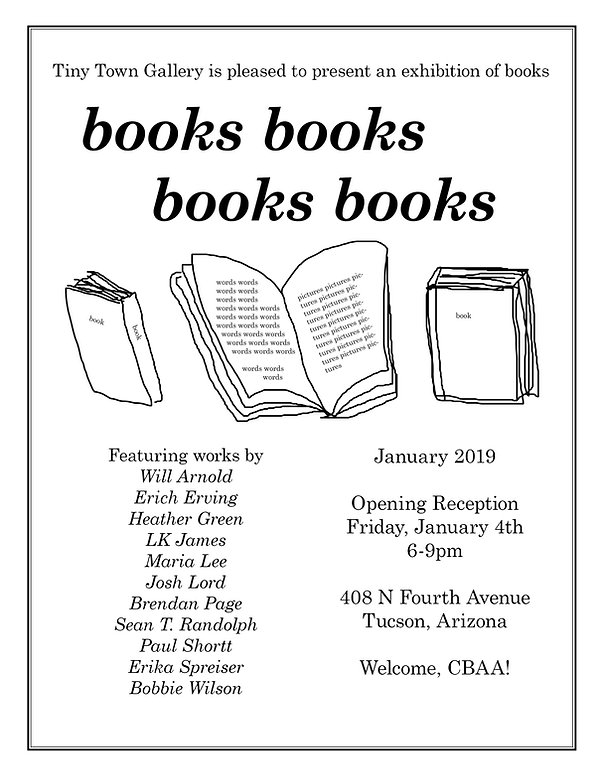 book show flyer for reception and show.j
