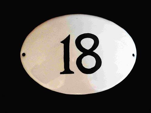 Numéro seul ovale