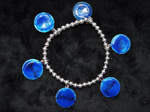 Bracelet émail-argent