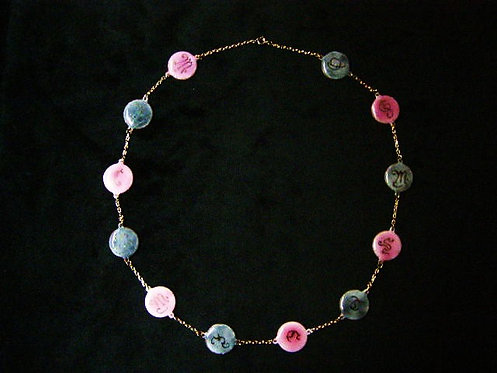 Collier rose et gris
