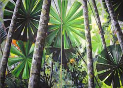Fan Palms diptych small