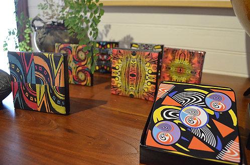 Coasters - set of 6