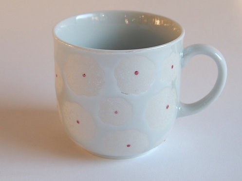 白花真珠マグカップ(小)
