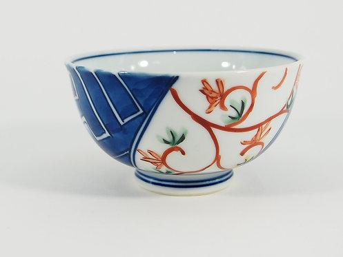 染錦紗綾紋唐草 ご飯茶碗