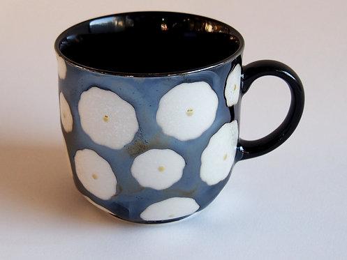 黒花真珠マグカップ(小)