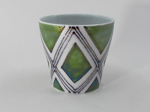 緑菱角紋 ロックカップ