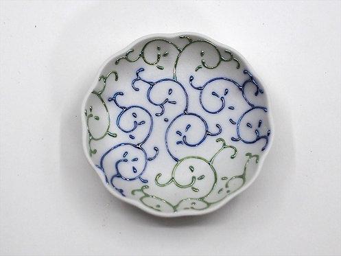 カラクサ(青)まめ皿