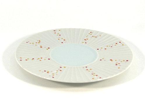 枝連珠 しのぎ6.5寸皿