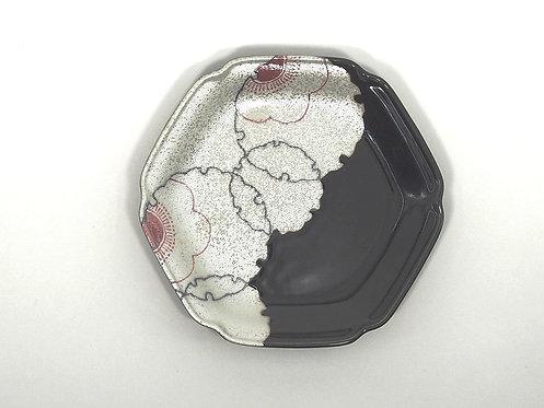 花雪輪 六角5寸皿