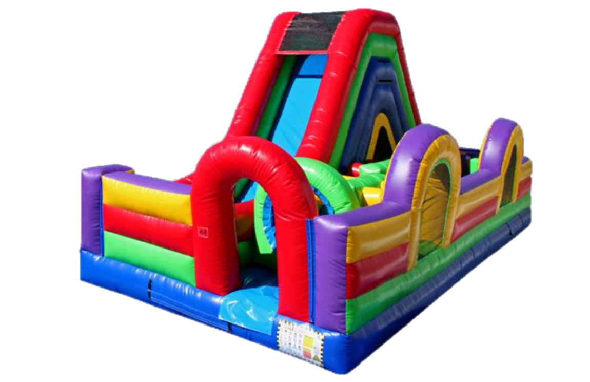 dash and slide single obstacle course no bckground