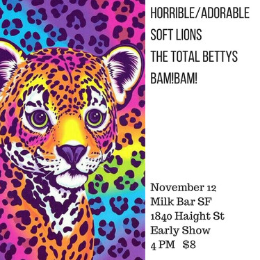 Nov 12, 2016 @ Milk Bar San Francisco