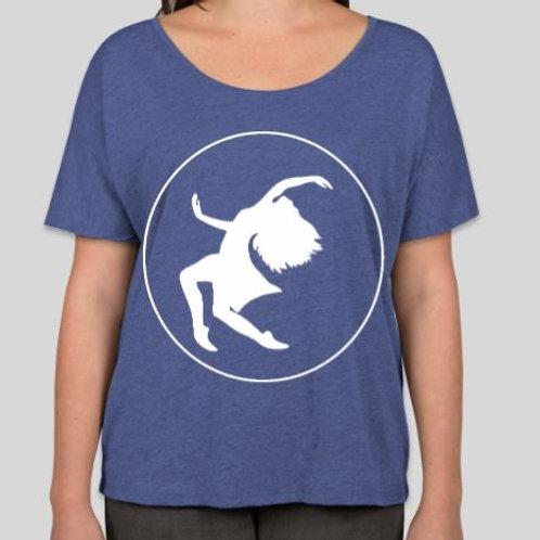 Blue Flowy Tri-Blend Tshirt