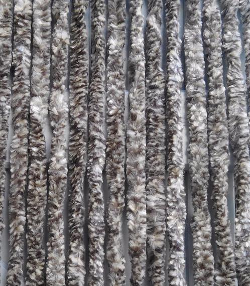 Chenille chine marron 90x220 promo rideau de porte anti for Rideau de porte exterieur anti mouche