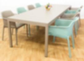 ריהוט גן - שולחן גינה להגדלה ריו כורסאות נט